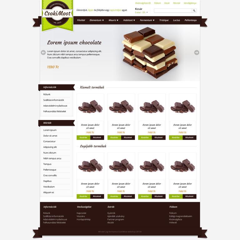 csokimost.hu designset